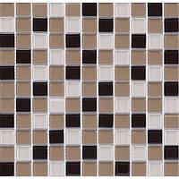 Мозаика прозрачное стекло Vivacer микс 2,5*2,5 Mix C02