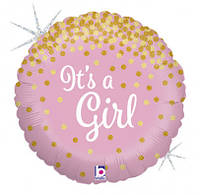Шар фольгированный для выписки из роддома  It`s a girl