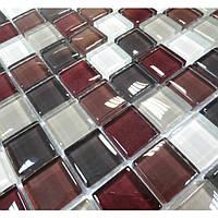 Мозаика прозрачное стекло Vivacer микс 2,5*2,5 Mix C05
