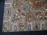 Мозаика 543-15, павлопосадский платок шерстяной  с шелковой бахромой, фото 4