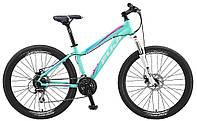 """Горный женский велосипед Fuji Addy Comp 1.5 Disk бирюзовый 17"""" (GT)"""