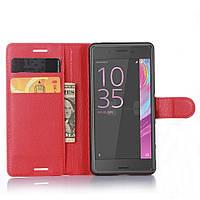 Чехол-книжка Litchie Wallet для Sony Xperia X F5122 Красный