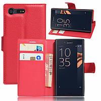 Чехол-книжка Litchie Wallet для Sony Xperia X Compact F5321 Красный