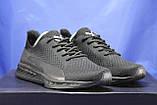 Легкі кросівки сітка чорні на чорній підошві в стилі Puma, фото 3