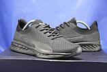 Легкі кросівки сітка чорні на чорній підошві в стилі Puma, фото 2