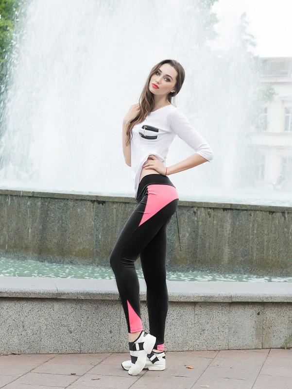 Спортивні жіночі Issa Plus 529 чорний з рожевим