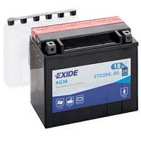 Аккумуляторы мото Exide ETX20HL-BS: 18 А·ч - 12 V; 270 (ETX20HL-BS), 175x87x155 мм