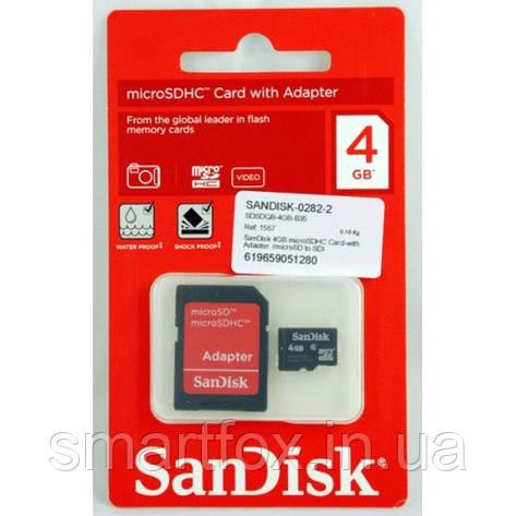 Карта памяти 4Gb SanDisk, фото 2