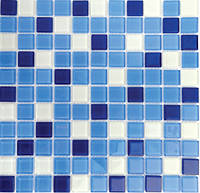 Мозаика прозрачное стекло Vivacer микс 2,5*2,5 Mix C011
