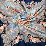 Румянец 1540-14, павлопосадский платок шерстяной  с шелковой бахромой, фото 6