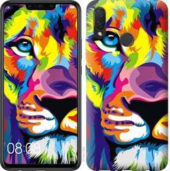 """Чехол на Huawei P Smart 2019 Разноцветный лев """"2713c-1634-328"""""""