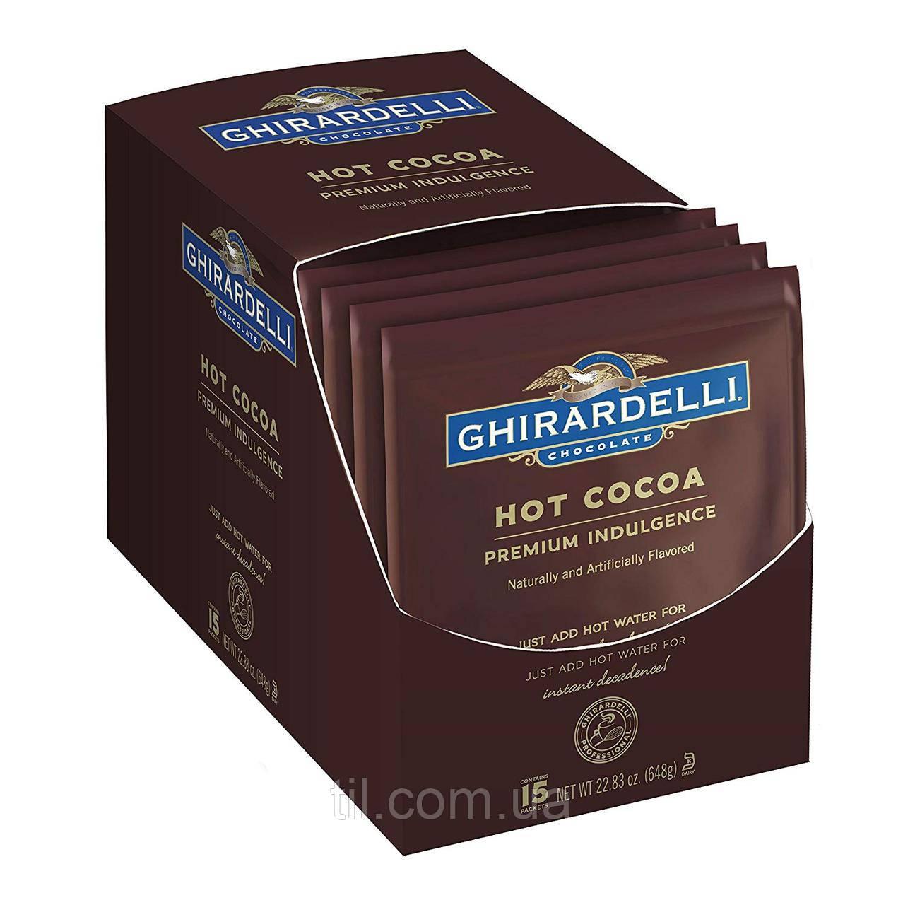 Элитное горячее какао Ghirardelli 15 штук