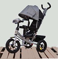Велосипед детский трехколесный Azimut Lambortrike BC-17B AIR с фарой с USB с пультом Серый., фото 1