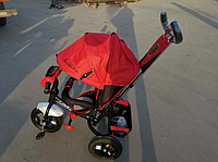 Велосипед детский трехколесный Azimut Lambortrike BC-17B AIR с фарой с USB с пультом Красный., фото 1