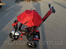 Велосипед детский трехколесный Azimut Lambortrike BC-17B AIR с фарой с USB с пультом Красный.