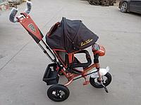 Велосипед детский трехколесный Azimut Lambortrike BC-17B AIR с фарой с USB с пультом Коричневый., фото 1