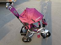 Велосипед детский трехколесный Azimut Lambortrike BC-17B AIR с фарой с USB с пультом Бордовый., фото 1