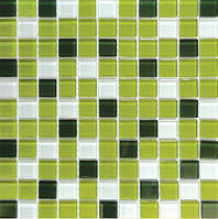 Мозаика прозрачное стекло Vivacer микс 2,5*2,5 Mix C012