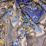 Ностальгия 573-14, павлопосадский платок шерстяной с шерстяной бахромой, фото 2