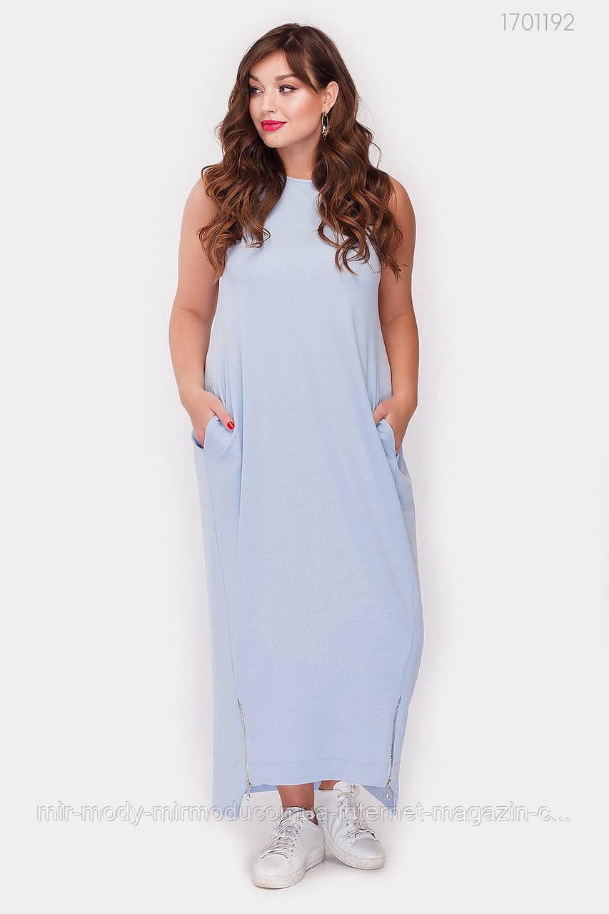 Платье Мелроуз - 1 (голубой ) 3 цвета с  50 по 56 размер (рин)