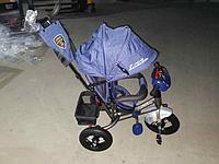 Велосипед детский трехколесный Azimut BC-17B-AIR - ЛАМБОТРАЙК DENIM-Синий с USB.
