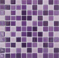 Мозаика прозрачное стекло Vivacer микс 2,5*2,5 Mix C014