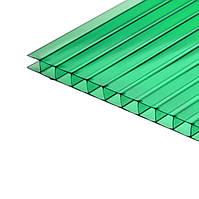 Сотовый зеленый поликарбонат 4 мм тмPolygal (лист 2,1*6,0 м)