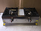 Görkem.Плита газовая настольная  2-х конфорочная Görkem GO 20 (конфорка 200х200), фото 2