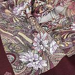 Жемчужный берег 853-57, павлопосадский платок шерстяной  с шелковой бахромой, фото 7