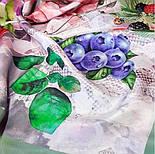 Мадемяузель 10089-10, павлопосадский платок (крепдешин) шелковый с подрубкой, фото 3