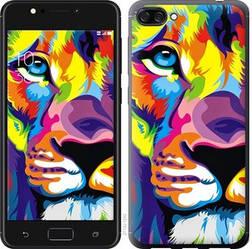 "Чехол на Asus ZenFone 4 Max ZC554KL Разноцветный лев ""2713c-1035-328"""