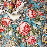 Аленушка 1347-3, павлопосадский платок шерстяной  с оверлоком, фото 4