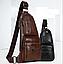 Кожаная мужская сумка через плечо Jeep 777 Bag коричневая, фото 3