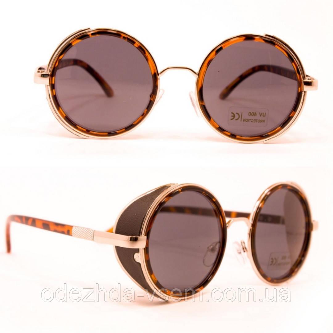 Круглые леопардовые очки