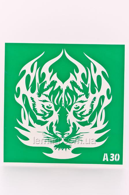 Boni Kasel Трафарет для био тату 15х15 см - А30, 1 шт