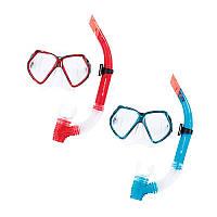Набор для плавания 24030, маска, трубка, 2 цвета,