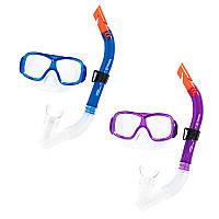 Набор для плавания 24032, маска, трубка, 2 цвета