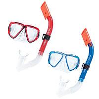 Набор для плавания 24029, маска, трубка, 2 цвета,