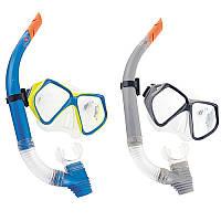 Набор для плавания 24003, маска, трубка, 2 цвета,