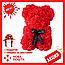 Красивый мишка из латексных 3D роз 25 см с лентой в подарочной коробке | Светло розовый, фото 4