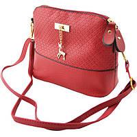 841ae650c876 Стильная женская сумка через плечо Bembi | Маленькая сумочка Бэмби Красная