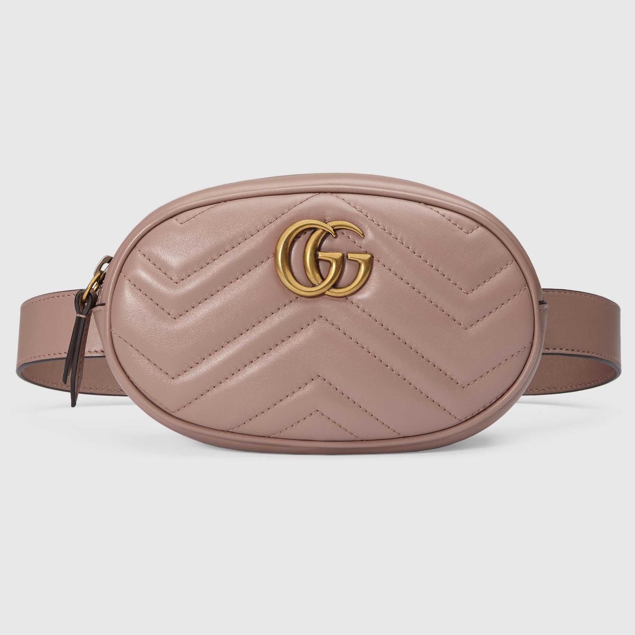 b5ee5879d20a Женская поясная сумочка GUCCI Marmont | сумка на пояс Гуччи Пудровая - 100  Мелочей в Черновцах