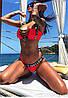 Женский раздельный купальник с декором в расцветках. КУ-24-0319, фото 4