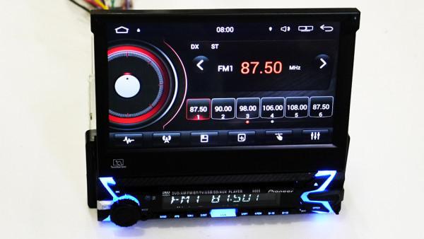 Автомагнитола 1DIN DVD-9505 Android GPS с выездным экраном   Автомобильная магнитола + пульт управления