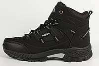 Ботинки мужские мех черные Bona Размеры 46