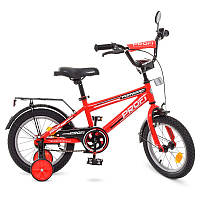 Детский велосипед Profi Forward T1475, 14 дюймов, с дополнительными колесами, красный