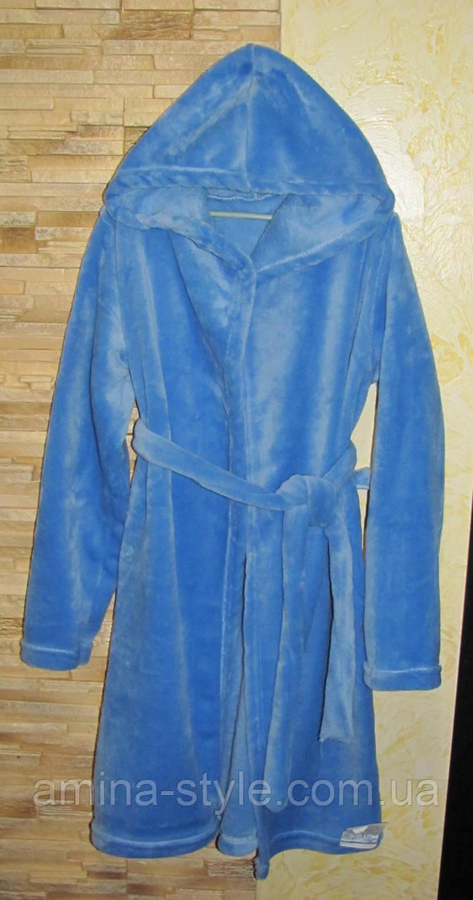 Детский махровый халат подросток, размер 36