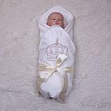 Детский трикотажный плед Queen, молочный, фото 2