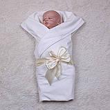 Детский трикотажный плед Queen, молочный, фото 4