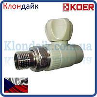 KOER ППР Кран радиаторный прямой 25x3/4